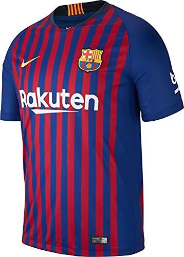 Nike Maillot Barcelone Home 18/19 Bleu XL