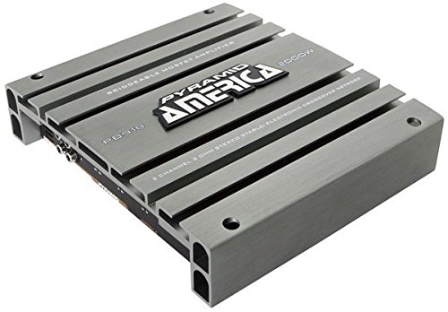 2 Channel Car Stereo Amplifier - 2000W High Power 2-Channel Bridgeable Audio Sound Auto Small Speaker Amp Box w/ MOSFET, Crossover, Bass Boost Control, Silver Plated RCA Input Output - Pyramid PB918