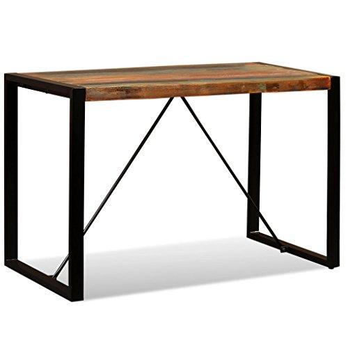 vidaXL Esszimmertisch Vintage Küchentisch Esstisch Speisetisch Holztisch Tisch Massivholztisch Recyceltes Massivholz 120cm Stahlbeine