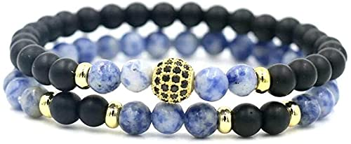 Pulsera Feng Shui Bead Pulsera de piedra Mujer, 7 Chakra Natural Lapis Beads Frosted Stone Brazalete Elástico Dorado Lucky Tibetano Mala Joyería Yoga Charm Diffuser Mujer Pulsera Regalo Pulsera de aba