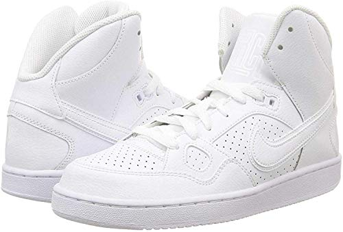 Nike Son of Force Mid GS Hi Top Trainers 615158 Sneakers Shoes (UK 3.5 us 4Y EU 36, White White White 109)
