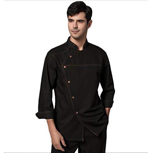 WyCDA kookjack, uniseks, lange mouwen, met knoppen, dun en ademend, Baker-blouse 35% katoen