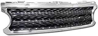 R&L Racing Chrome/Black Mesh Style Front Hood Bumper Grill Grille 2006-2009 for Range Rover L322 Full Size