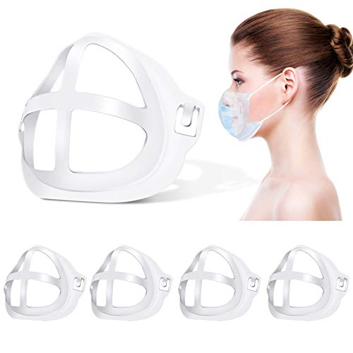 Face Mask Bracket (5Pcs) 3D Mask Bracket - Silicone Mask Bracket More Space for Comfortable Breathing Protect Lipstick Washable Reusable (Large)