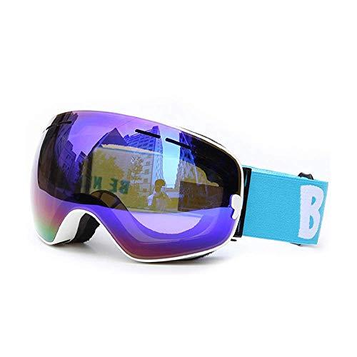 WOXING Esquiando Gafas,Aire Libre Deportes Ciclismo Gafas De Sol,Esquiando Deportivas Gafas,Mujer Hombre Gafas,Protección UV Grande Clásico HD-F 17.8x9.8cm(7x4inch)