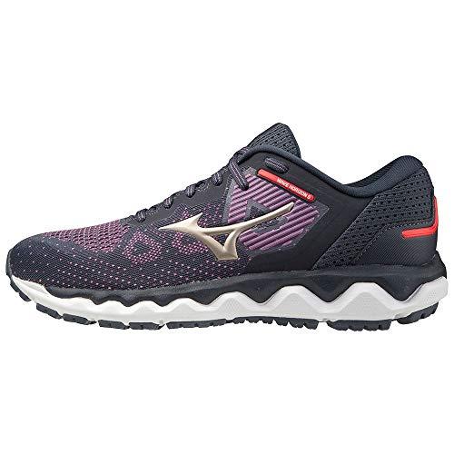 Mizuno Wave Horizon 5 (W), Zapatillas de Running Mujer, Chinese Violet/Platinum Gold/India Ink, 40 EU