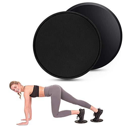COVACURE Sliders Fitness - Doppelseitige Gliding Discs Core Slider für Hause Training Bauch Workouts, für Teppich & Holzböden (2 Stück)