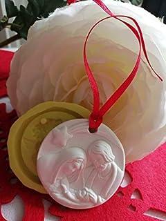 stampo in silicone sacra famiglia stampo natalizio stampo sacra famiglia battesimo stampo decorazioni stampo bomboniera ba...