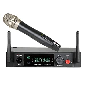 MIPRO True Digital 2.4GHz Wireless Vocal System with Cardioid Condenser Handheld Microphone (Handheld System)