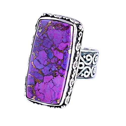Ravishing Impressions Jewellery Mujer Unisex 0.925 plata de ley radiante Purple púrpura, cobre turquesa