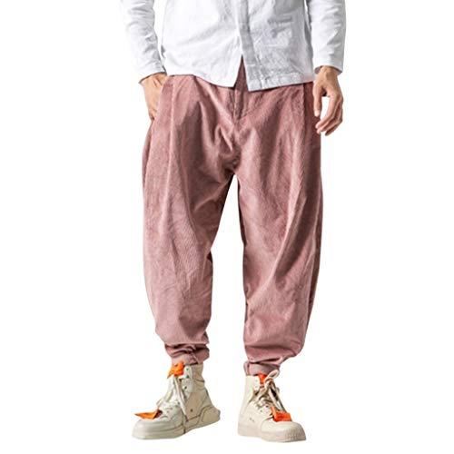 manadlian Homme Pantalon Rétro Hommes Pantalon en Velours Côtelé Jean Droit Trouser Fitness Jogging Pantalon de Sport Jogger Survêtement Jean Droit Hommes