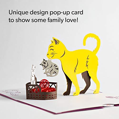 Lovepop Cat Mom Pop Up Card - 3D Card, Mother's Day Card, Animal Card, Pop Up Card, Mother's Day Greeting Card, Card for Mom, Cat Card, Kitten Card Photo #4