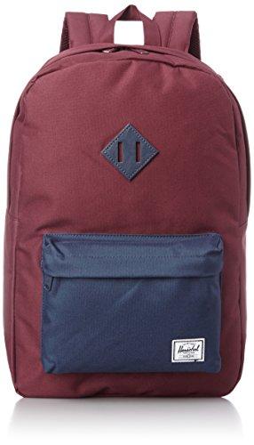 Herschel Heritage Backpack Classics Rucksack, 21 Liter, Windsor Wine/Navy