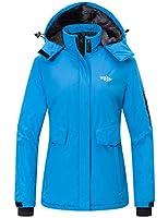 Wantdo Women's Winter Short Parka Insulated Jacket Anorak Casual Wear Blue M