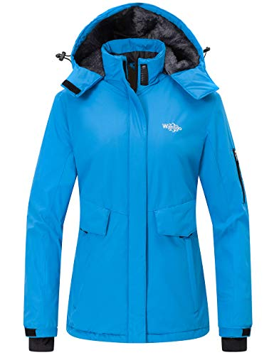 Wantdo Women's Winter Short Parka Insulated Jacket Anorak Casual Wear Blue M