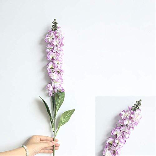 XFLOWR Hyacinth Violet Flowers Silk Kunstbloemen Lange bloemendecoratie voor de lente huis Bruiloft Hotel Decor Faux vervalste bloem 90 cm 1 stuk paars