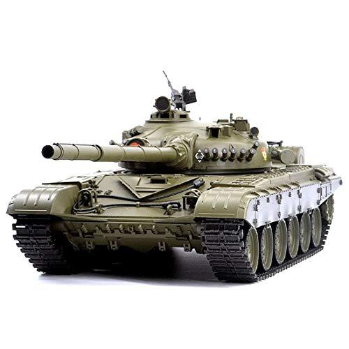 SESAY Tanque teledirigido 1:16 2.4GHz RC Militar WWW2 Russian T-72 Tanque con función de disparo, efecto de sonido, luz y efecto humo, juguete teledirigido para niños y adultos