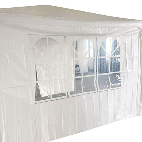 STF 1pc Portable Beautiful Durable PE Gazebo Pavilion Tent Walls Windows for Canopy Privacy Screen for Party Tent White(118 x 118inch)