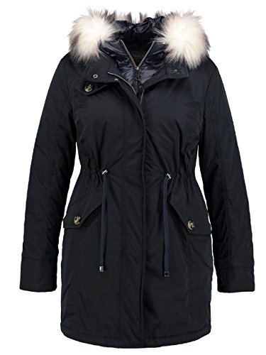 Samoon Damen Out and About Jacke, Blau (Marine 82200), 46