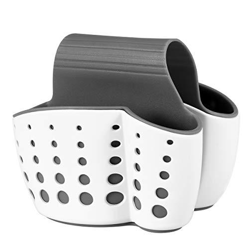 OUNONA Organizador de Fregadero Cocina Baño Cesto Porta Esponja Jabonera (Blanco)