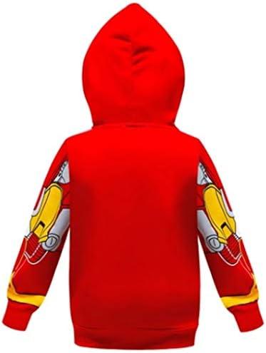 YeMao Bambini Supereroe Flash con Cappuccio Tasca con Cerniera a Maniche Lunghe Felpa Giacca per Ragazzi Ragazze