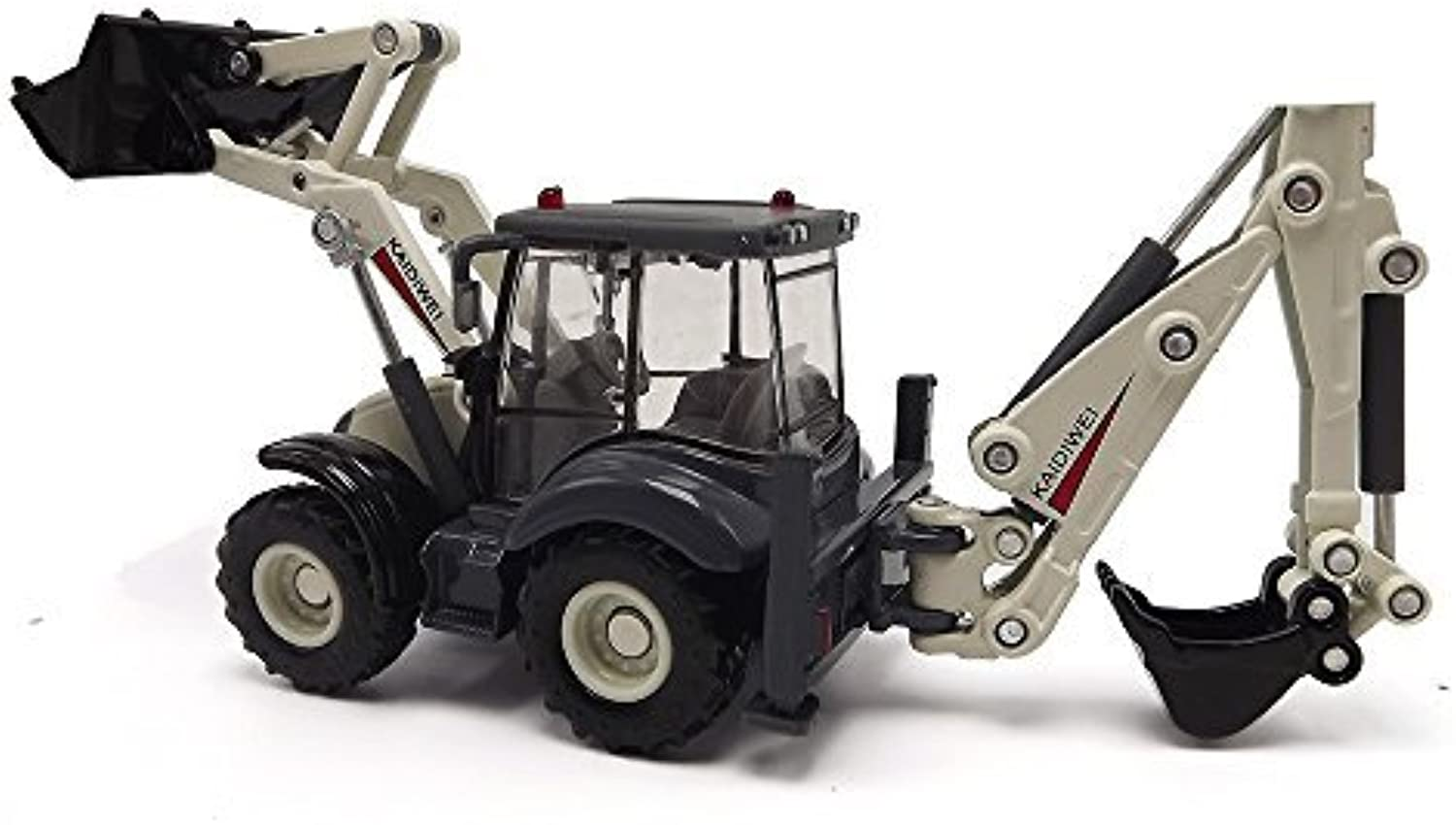 EMart Alloy Diecast Toy Digger and Excavator Truck Model 1 50 4-Wheel Multi-Function Excavator Metal Engineering Vehicle Car Collection Toys for Kids