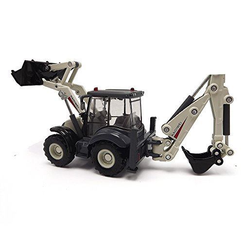 EMART Alloy Diecast Toy Digger and Excavator Truck Model 1:50 4-Wheel Multi-Function Excavator Metal Engineering Vehicle Car Collection Toys for Kids