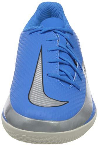 Nike Phantom GT Club IC, Football Shoe Hombre, Photo Blue/Metallic Silver-Rage Green-Black, 44 EU