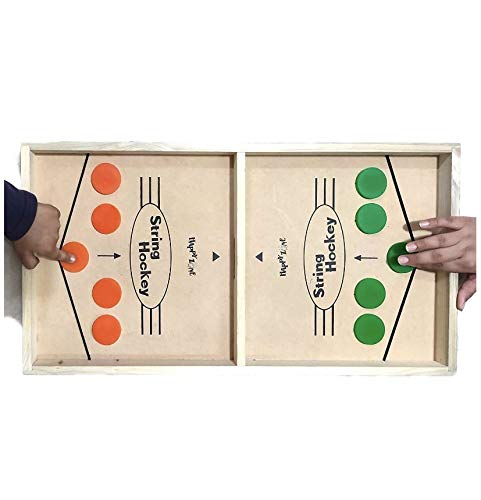 String Hockey Table Board Game   Fast Sling Puck Board Game for Kids and Adults   Tabletop Slingshot Games Toys for Boys and Girls for All Age ( Striker colors will be sent as per availability of stock)