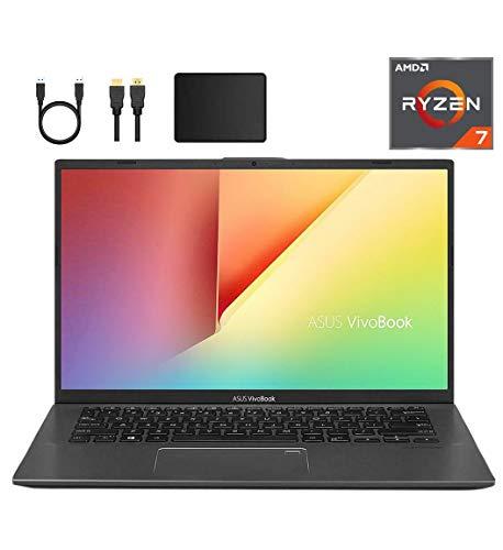 Newest ASUS VivoBook 14-inch FHD 1080p Laptop PC, AMD Ryzen 7 3700U, 12GB DDR4, 1TB SSD, Fingerprint Reader, Backlit Keyboard, AMD Radeon RX Vega 10 Graphics, W10 Home w/Mazery Accessories