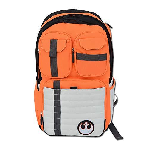 HAMIQI Star Wars Rebel Army Logo Mochila Mochila de viaje al aire libre Mochila para estudiantes Mochila para portátiles (Naranja)