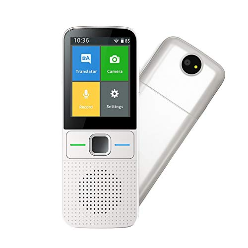 iVOR Language Translator Device Voice/Photo/Recording Translation Touch Screen Online&Offline Translator Support 137 Languages White