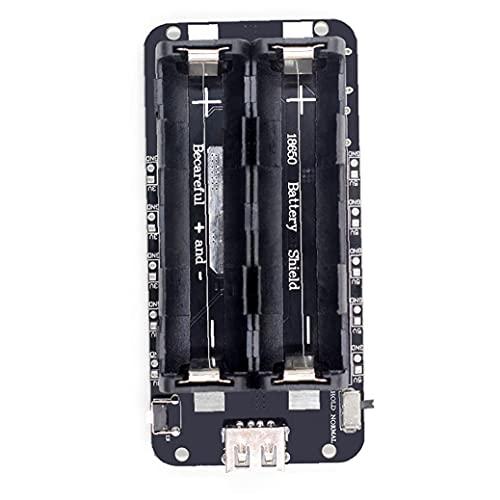 NIDONE Módulo de Carga Tablero de expansión de Potencia móvil de Dos vías 18650 Expansión de batería de Litio Escudo Negro
