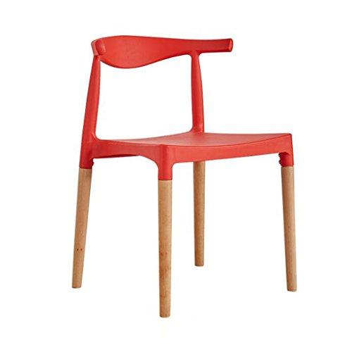 Eetkamerstoel WGZ- Plastic Hoorn Stoel Rugleuning Moderne Eenvoudige Huishoudelijke bureaustoel Casual Onderhandelen Tafels En Stoelen Eenvoudig