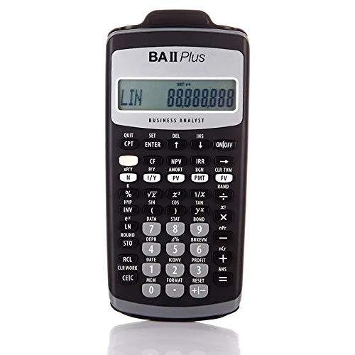 QIA Handtaschenrechner, LED-Bildschirm 10-stellige + 2 Digits Symbol Anzeige-Rechner für CFA-Test