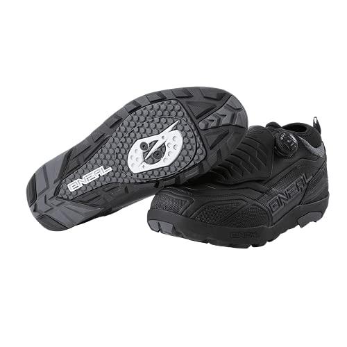 O'Neal   Scarpa da Bici   Mountainbike MTB DH FR Downhill Freeride   Impermeabile, Traspirante, sgancio rapido per Una vestibilità Perfetta   Scarpa Loam WP SPD Unisex   Adulto   Nero   Taglia 43