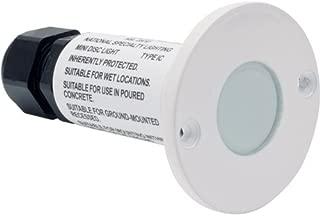 MiniDisc LED Step Light White Finish Cool White LED's