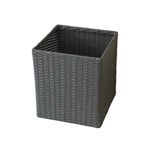 ZHAOSHUNLI Panier à linge Place tissée en plastique de panier de rangement de panier à linge 35,5 * 35,5 * 40cm
