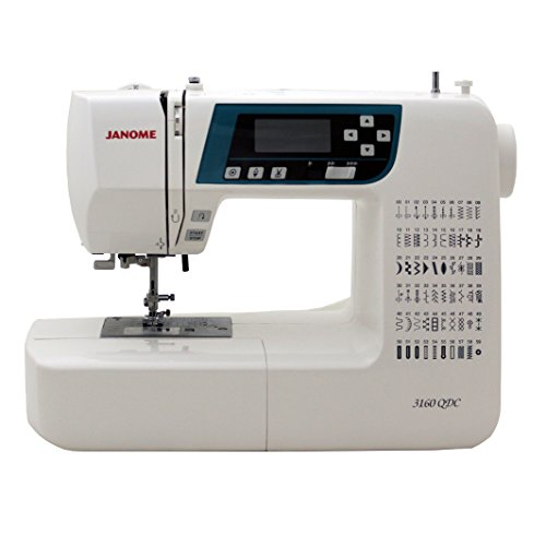 Janome 3160QDC Computerized Sewing Machine New 2020 Tan Color w/Hard Cover  Extension Table  Quilt Kit  1/4 Seam Foot w/Guide  Overedge Foot  Zig Zag Foot  Buttonhole Foot  More