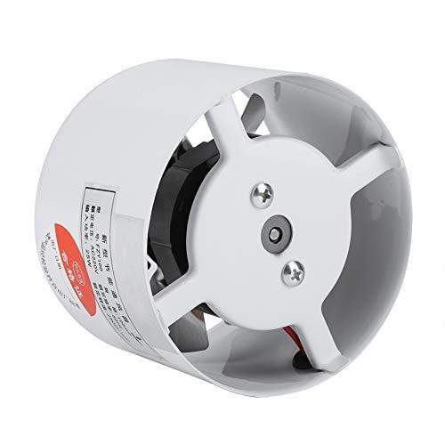 Ventilador de ventilación de conducto montado en la pared, ventilador de escape de bajo ruido para el hogar, baño, cocina, garaje, suministro de ventilación de aire 25 W 220 V