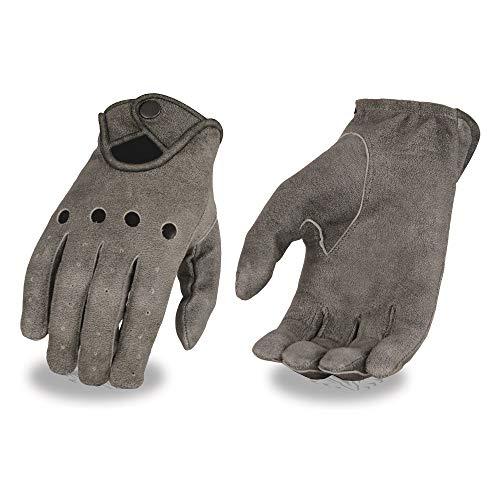 Milwaukee piel guantes de conducción de piel Para Hombre Con Muñeca Snap