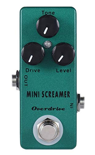 YMUZE Mosky Mini Screamer Guitar Effect Pedal with Overdrive Function Zinc-aluminium Alloy Body