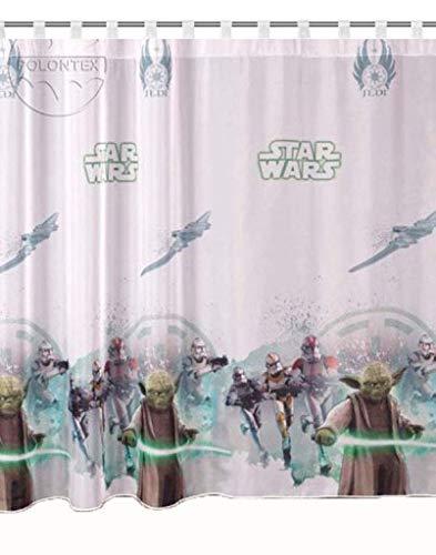 Cortinas Star Wars Jedi notebook 75cm B x 157cm L habitación de los Niños cortina Disney