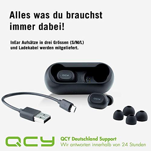 QCY T1 Bluetooth 5.0 Sport-Kopfhörer In-Ear, 20 Stunden Akkulaufzeit, Wireless kabellos für iPhone Android mit starkem Powerbank, IPX4 wasserdicht und Mikrofon Bild 5*
