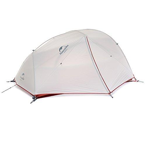 Naturehike Star-River Zelt 2 Personen Doppelzelt Ultraleichtes Zelt Rucksackreisen Wasserdicht Wandern Camping Zelt (20D Grau)