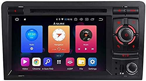 FWZJ Car Stereo Sat Nav 9.0 Android con Pantalla táctil de 7 Pulgadas Compatible con Dab + 4G WiFi BT-Music, Control del Volante de navegación GPS para Audi A3 S3 RS3 8P 8V 8PA (Botones unilatera