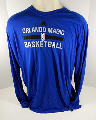 2016-17 Orlando Magic Game Issued Blue Shooting Long Sleeve Shirt 3XLT 710794S - NBA Game Used