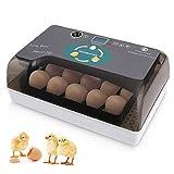 Sailnovo Couveuse Incubateur œufs Retournement Automatique 12 œufs Numérique Appareil d'Incubation Eclosion de Poussin