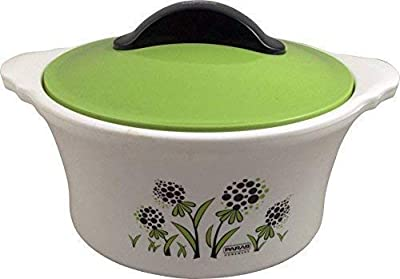 Bhavyam Made Of 100% Virgin Plastic Casserole With Cover, Set of 1, 1300 ml, Multicolour