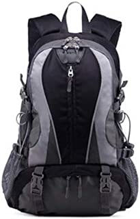Unisex Backpack Fashion Casual Sports Backpack 17 Inch Mountaineering Backpack QDDSP (Color : Black)